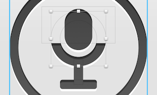 Voice-snippet icon, recreated in Sketch
